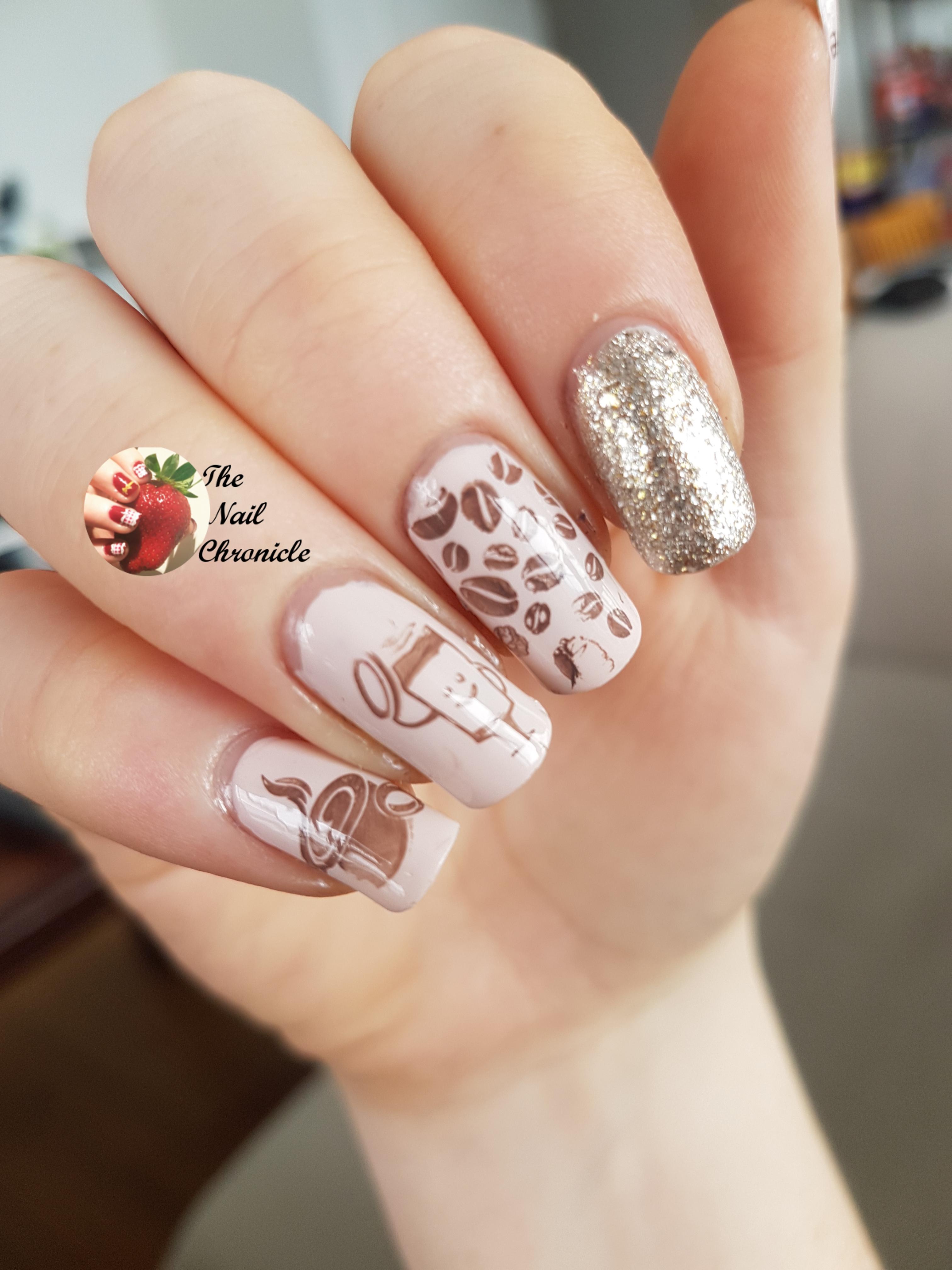 Pink Glam Nails