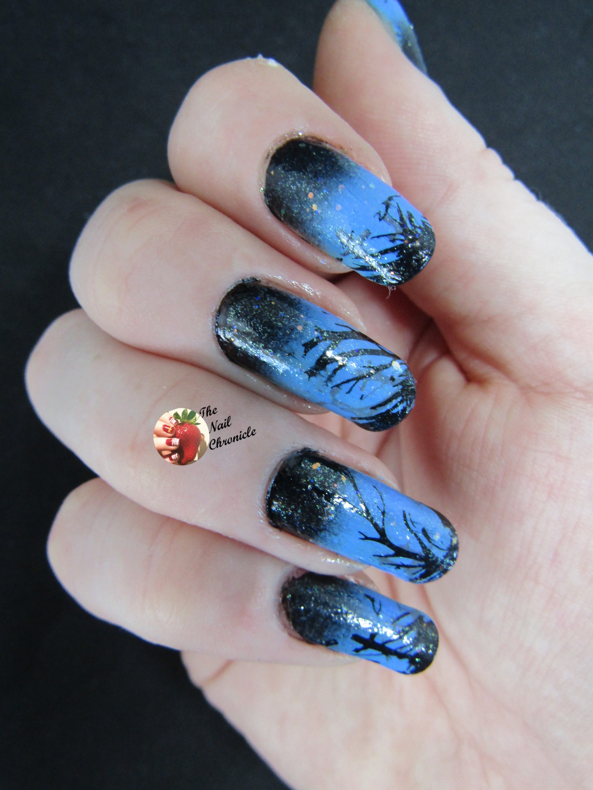 Halloween Nail Art 2018 \u2013 Design 3 , Spooky Night Nail Art