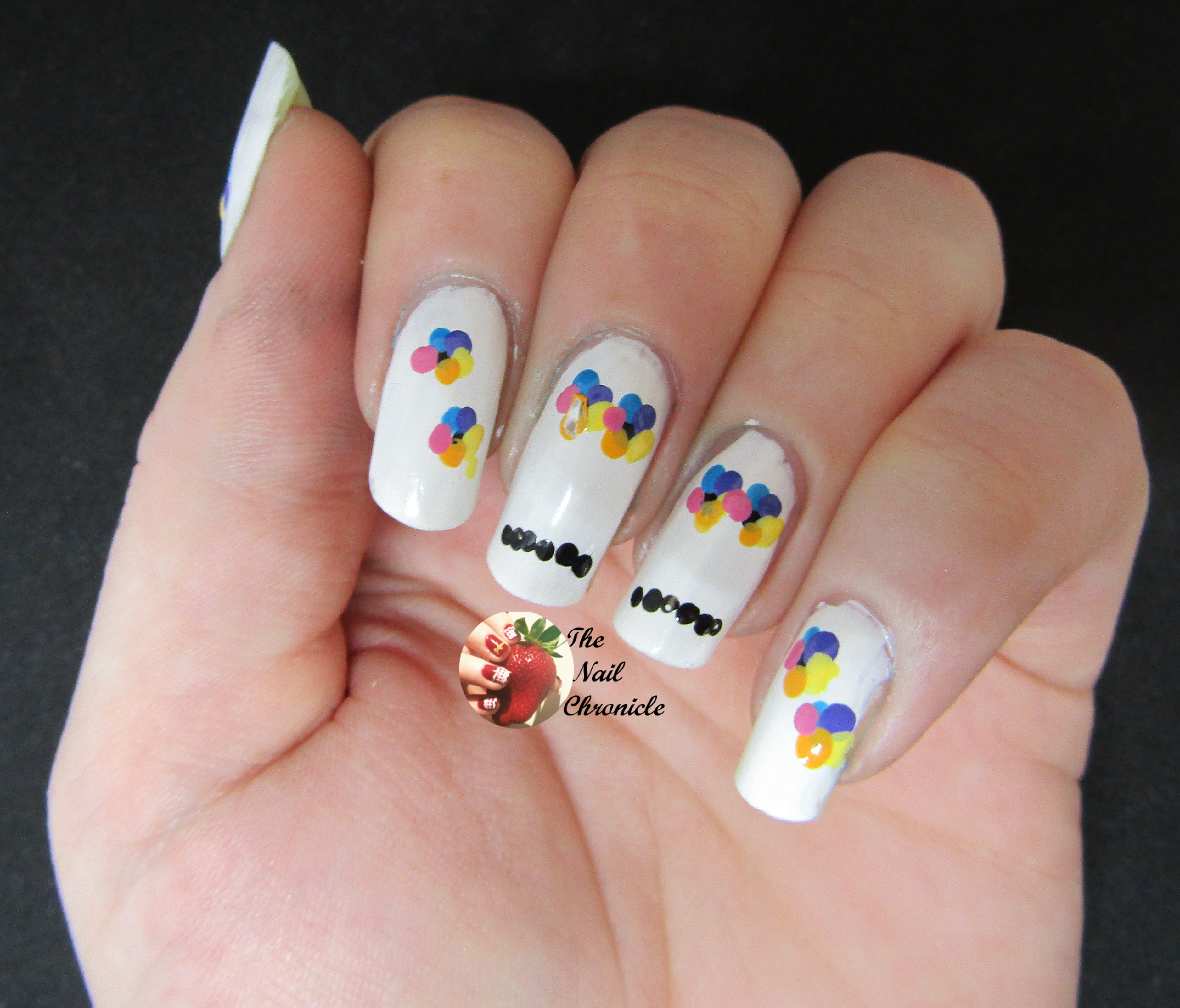 Halloween Nail Art 2018 \u2013 Design 5 , Bright Skull Nail Art